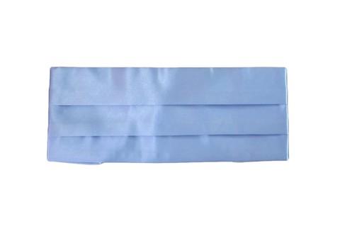 Камербанд (кушак, пояс) La madre голубой для смокинга+бабочка+платок