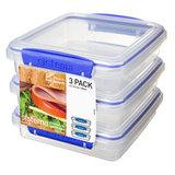 Набор контейнеров для сэндвичей Klip IT (3 шт) 450 мл, артикул 1643, производитель - Sistema