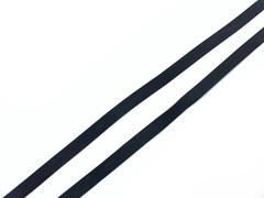 Резинка латексная для купальника черная 6 мм