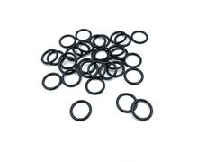 Кольцо для бретели черное матовое 10 мм (металл)