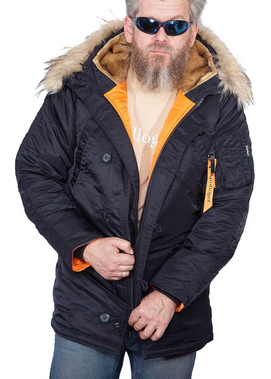 Куртка Аляска  N-3B  Husky Apolloget 2020 (т.синий - ink/orange)