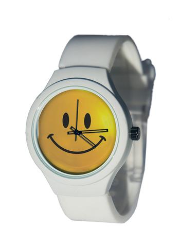 Часы наручные Смайл белые