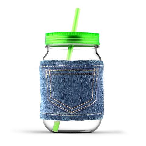 Кружка Asobu Jeans jar (0,75 литра), зеленая