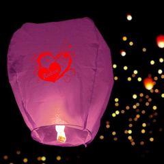 Небесный фонарик романтика Люблю розовый