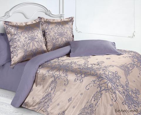 Жаккардовое постельное бельё 1,5 спальное, Белиссимо