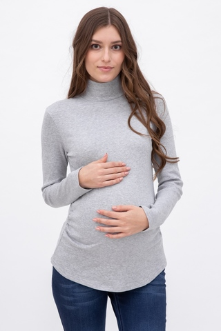 Водолазка для беременных 09947 серый