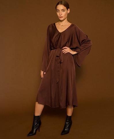 Шелковое платье Lea цвета бордо