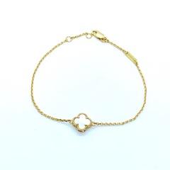 28127- Браслет Trendy mini из серебра в лимонной позолоте с перламутром