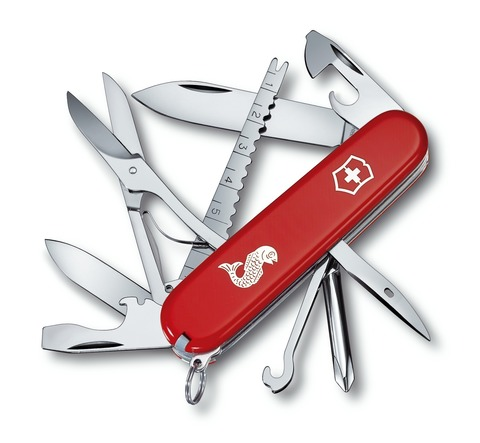 Складной нож Victorinox Fisherman (1.4733.72) 91 мм., 17 функций - Wenger-Victorinox.Ru