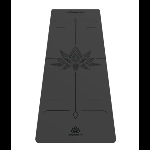 Каучуковый тревел коврик для йоги Art-Lotos Gray 185*68*0,2 см