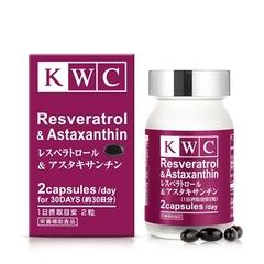 Ресвератрол и астаксантин, KWC, 60 капсул