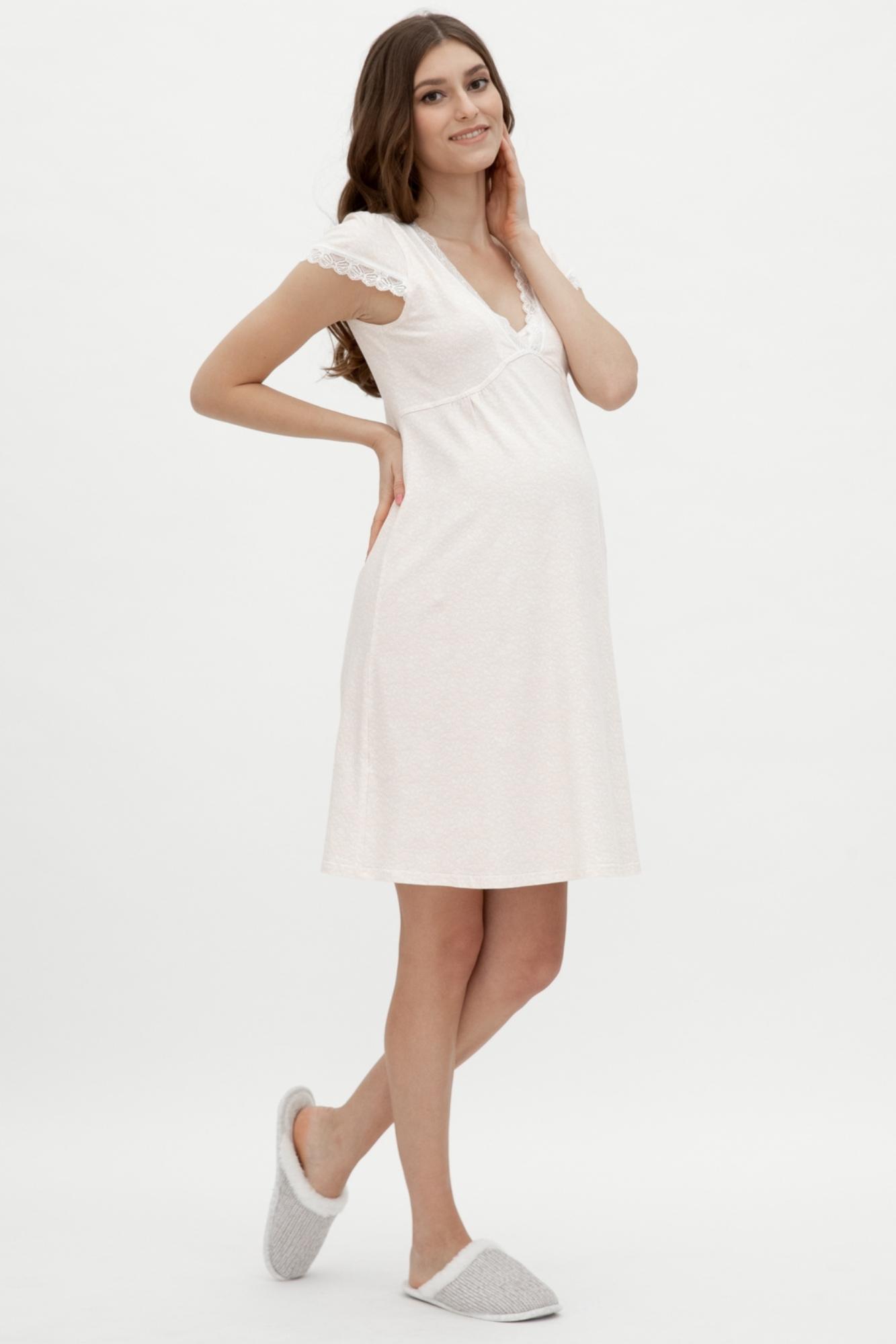 Ночная сорочка для беременных и кормящих 09431 розовый