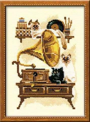Набор для вышивания крестом «Патефон» (859)