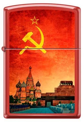 Зажигалка Zippo 233 Красная Москва Soviet Design