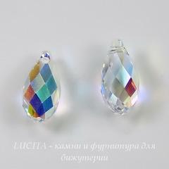 6010 Подвеска Сваровски Drop Crystal AB (13х6,5 мм)