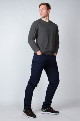 Men's navy jeans