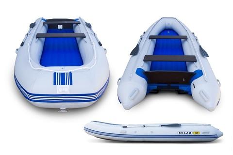 Надувная ПВХ-лодка Солар - 420 Vega Jet Tunnel (светло-серый)