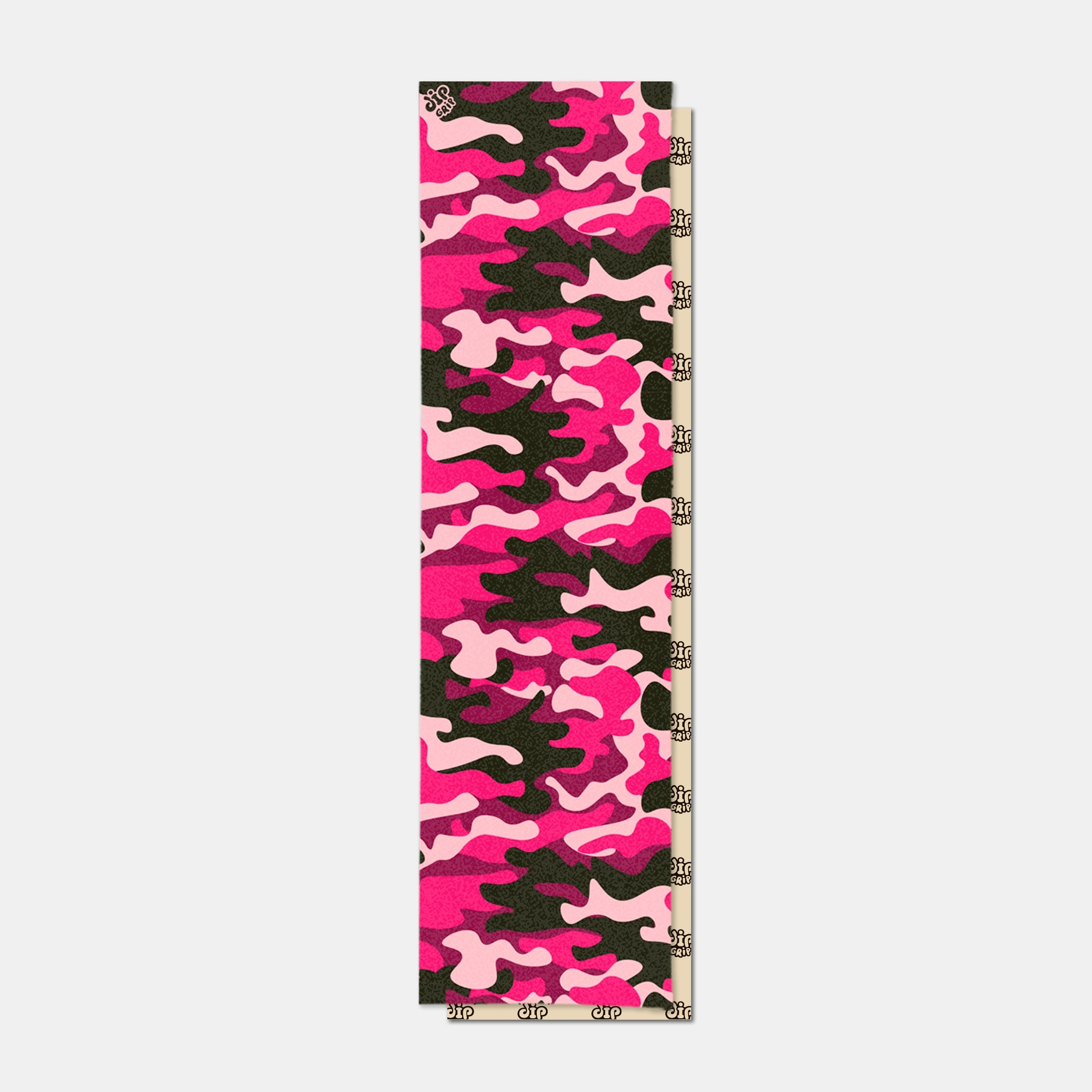 Шкурка dipGRIP Pink/Black Camo Perforated