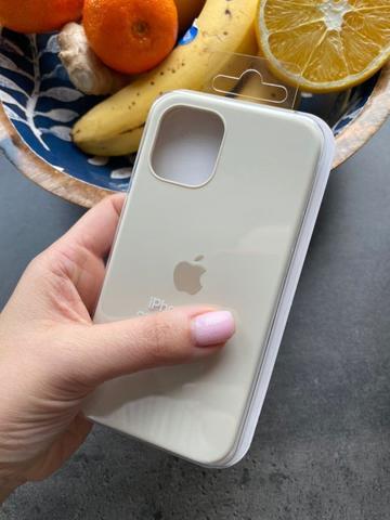Чехол iPhone 12 (6,1) Silicone Case Full /antique white/