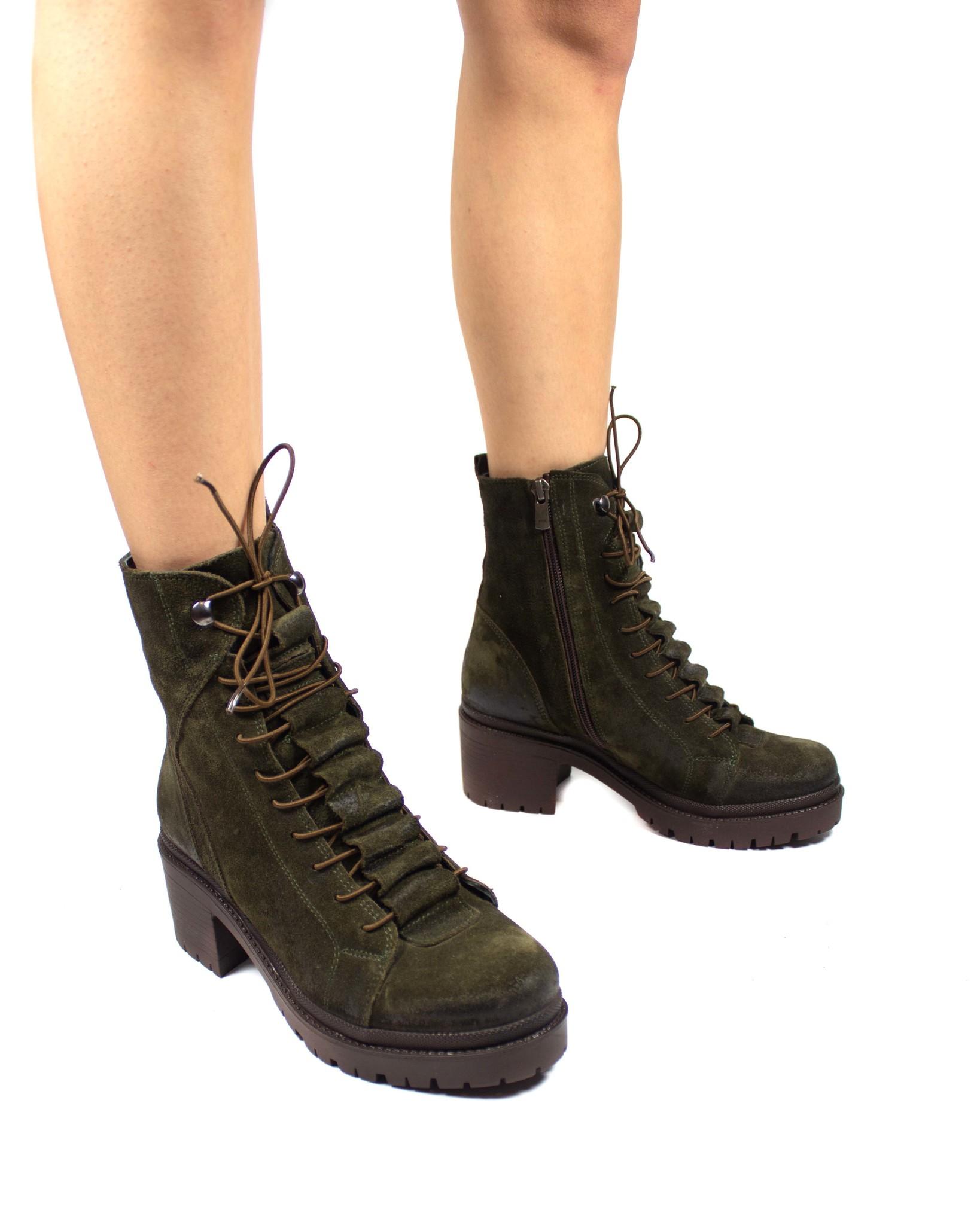 зеленые ботинки SM