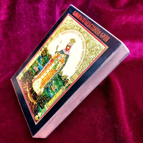 Икона святая княгиня Ольга на дереве на левкасе