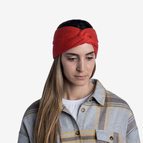 Вязаная повязка на голову Buff Headband Knitted Norval Fire фото 2