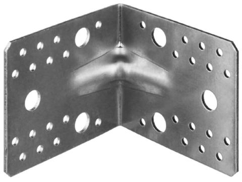 Уголок крепежный усиленный УКУ-2.5, 90х105х105 х 2.5мм, ЗУБР
