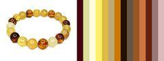с каким цветом сочетается разноцветный янтарь - примерная цветовая палитра