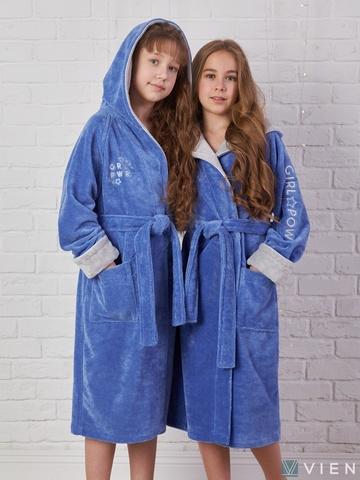 SPORT GIRL (фиалка) детский халат для девочки  Five Wien Турция