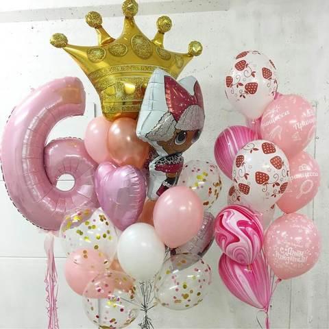 набор шаров лол и корона