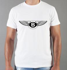 Футболка с принтом Бентли (Bentley) белая 004