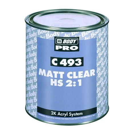 Лаки Лак  матовый HS 2к 2:1 BODY PRO C493HS BODY-C-493-mat-clear.jpg