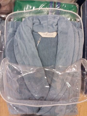 Мужской банный халат SORTIE голубой