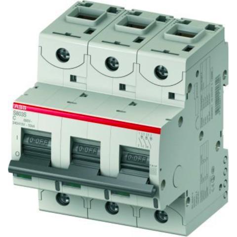 Автоматический выключатель 3-полюсный 16 А, тип C, 15 кА S803C C16. ABB. 2CCS883001R0164