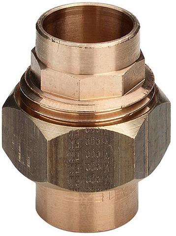 Viega американка бронзовая 18 мм прямая с плоским уплотнением под пайку (116583)