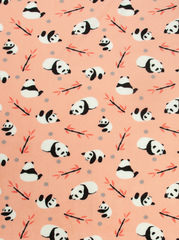 Чудо-Чадо. Плед Флисенок 120х85 см, коралловый/панды-бамбук