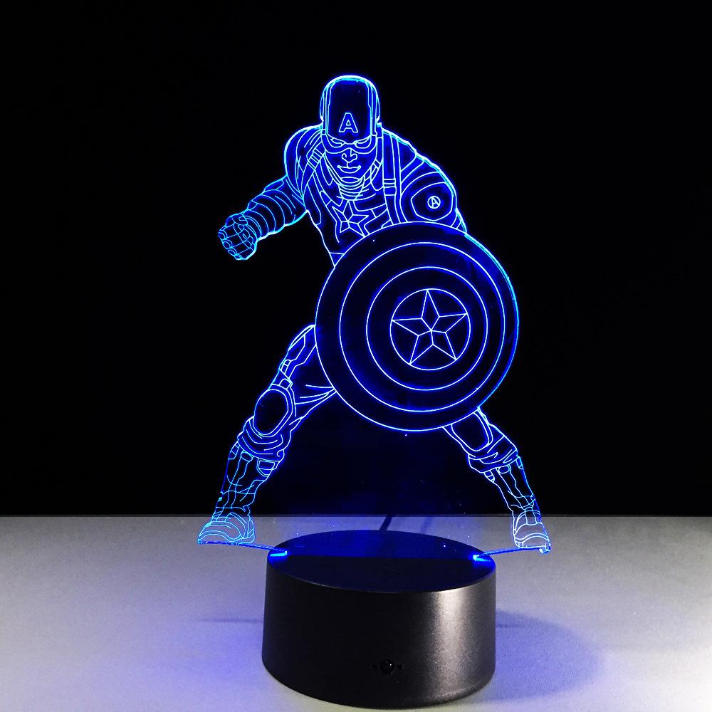 3D светильник Капитан Америка — 3D light Captain America