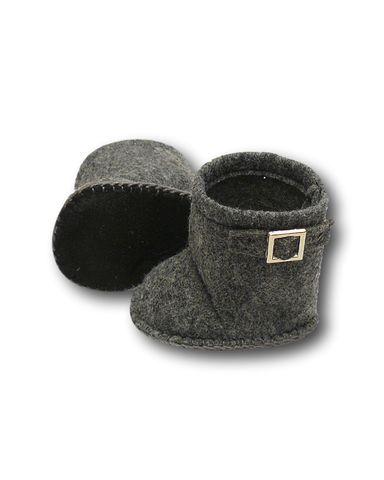 Сапожки-угги из фетра - Серый 1. Одежда для кукол, пупсов и мягких игрушек.