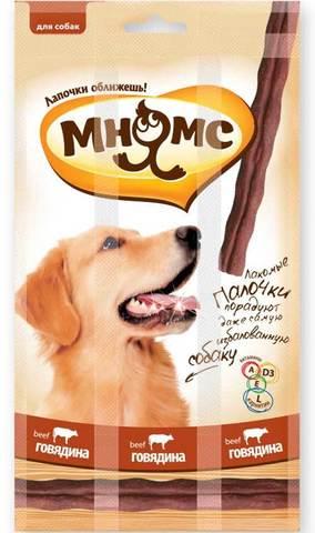 МНЯМС Лакомство для собак лакомые палочки с говядиной