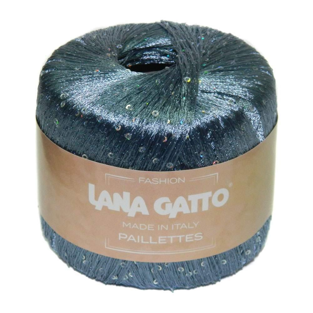 Пряжа Lana Gatto Paillettes 8604 серо-голубой