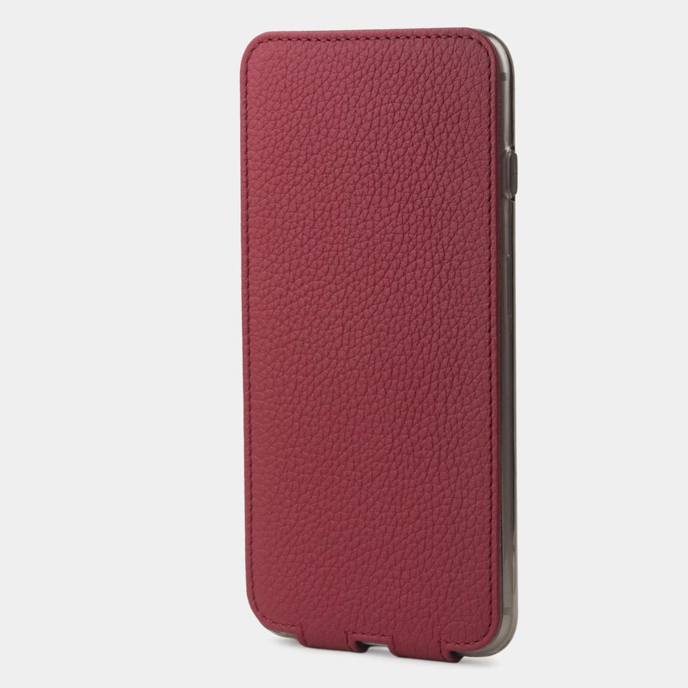 Чехол для iPhone SE/8 из натуральной кожи теленка, вишневого цвета