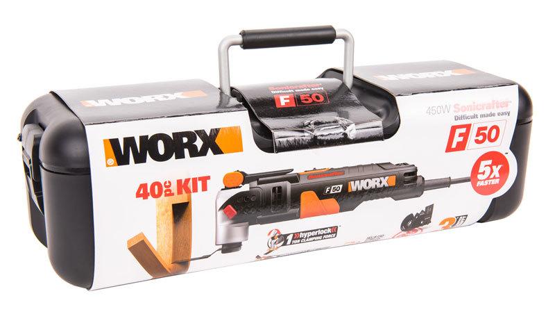Реноватор WORX WX681 Sonicrafter SDS, 450 Вт, кейс