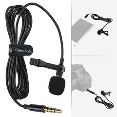Петличный Микрофон Green Audio 1.5м Для Смартфонов Черный