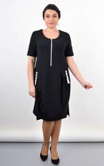 Анатолия. Оригинальное платье больших размеров. Черный.