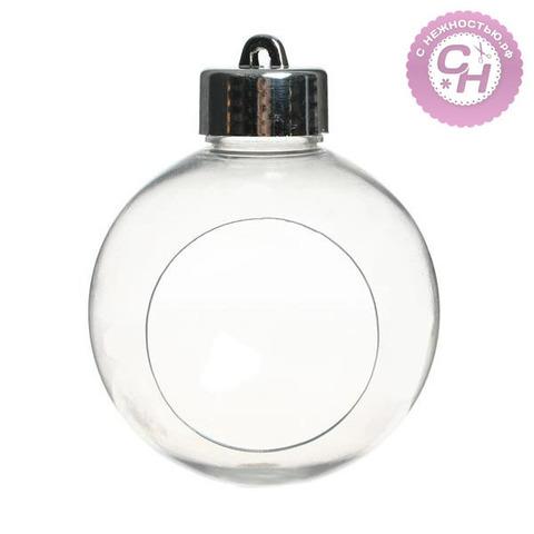 Шар прозрачный пластиковый с отверстием, 1 шт.