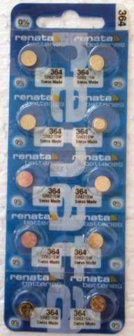 Элемент питания Renata 364 (SR621SW)0%Hg BL-10/100