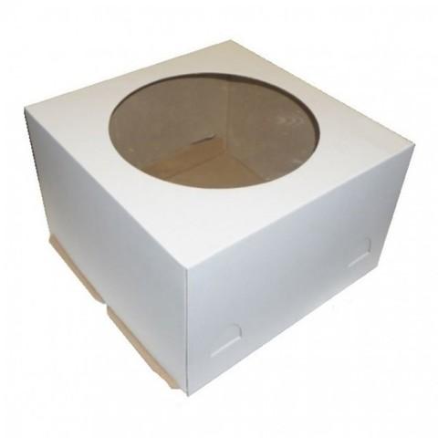 Короб для торта 30*30*19см с окном