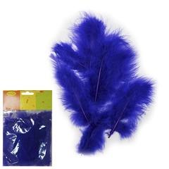 Перья синие 30 шт