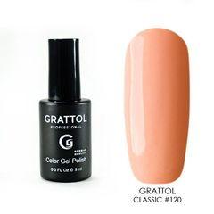 Grattol, Гель-лак 120, Sunny Orange, 9 мл