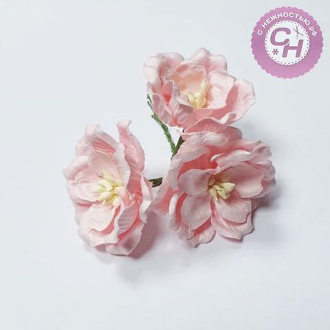 Цветы магнолии из бумаги 4 см, букет 3 шт.
